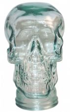 GLASS SKULL HEAD